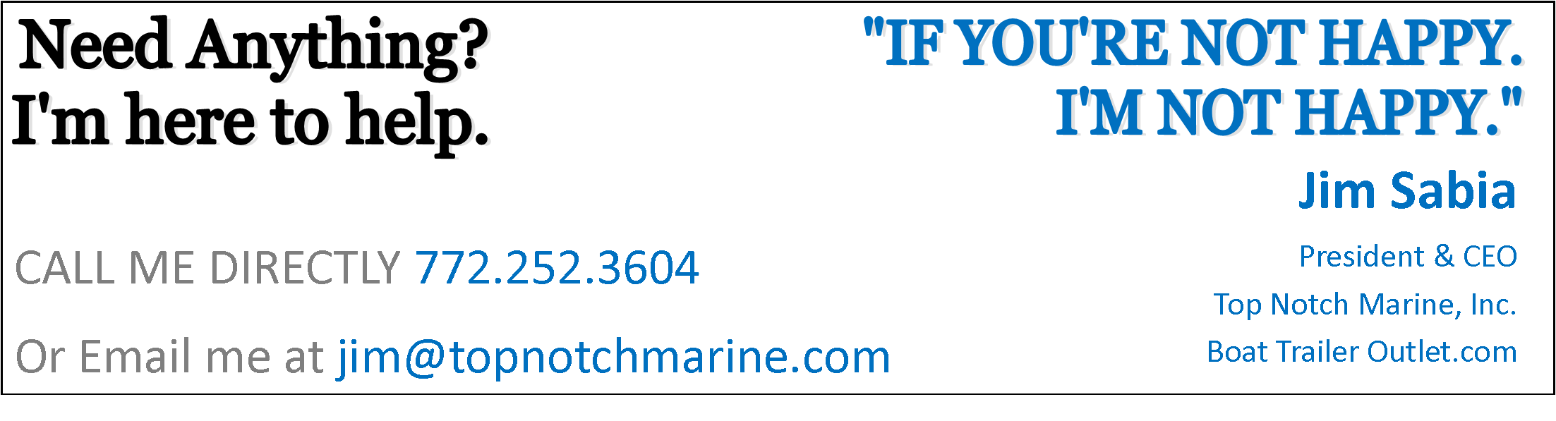 Get in Touch - Top Notch Marine