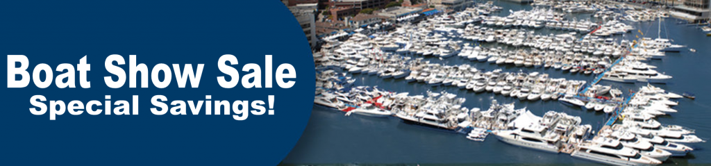 boat show sale banner